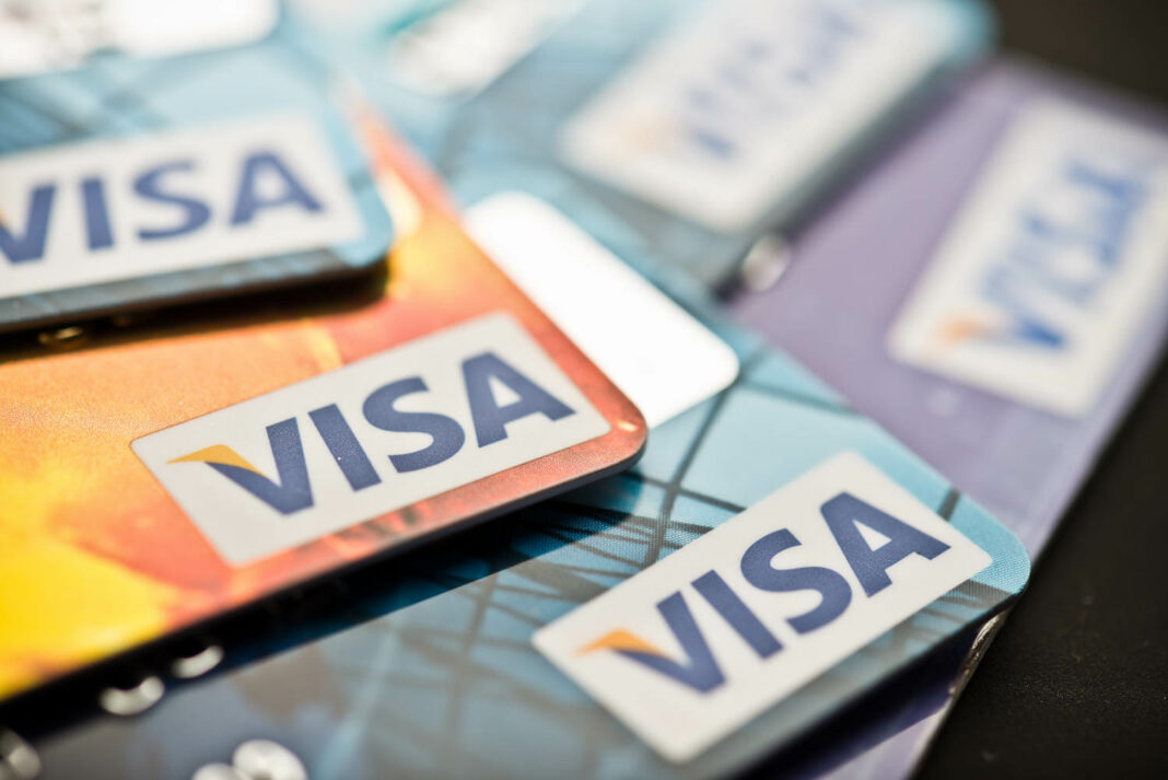 Pile of Visa cards
