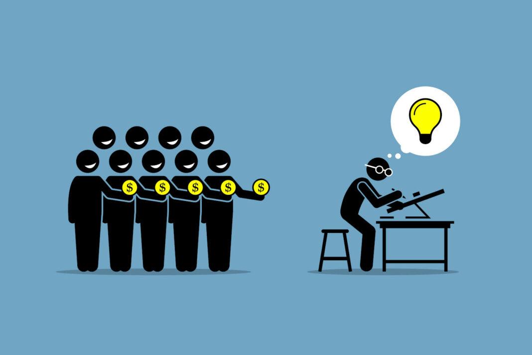 Crowdfunding concept