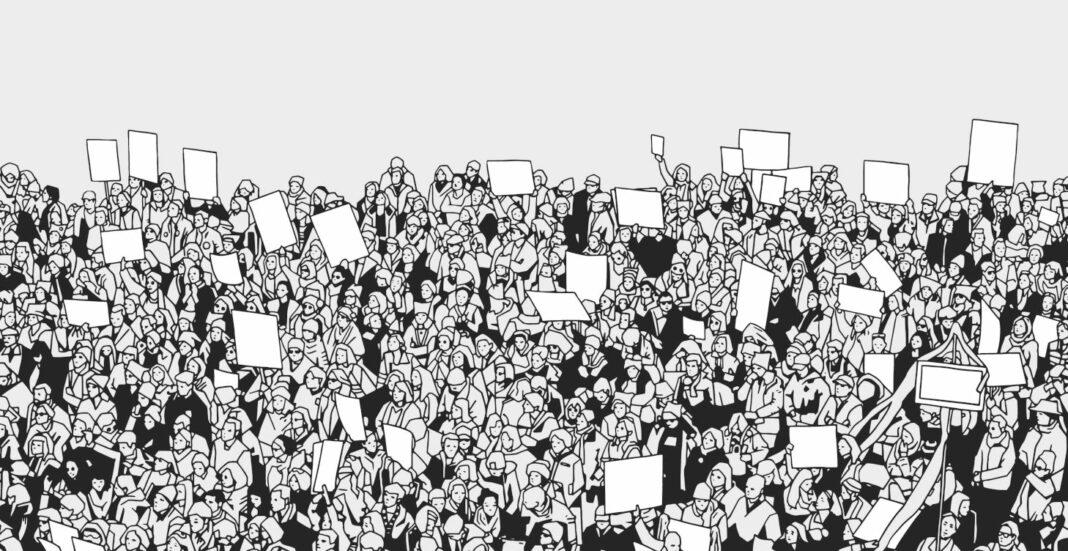 Massive crowd illustration