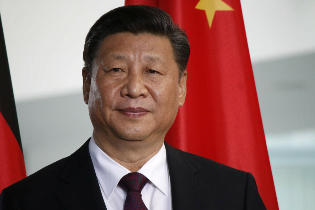 Chinese President Xi Jinping at a press conference