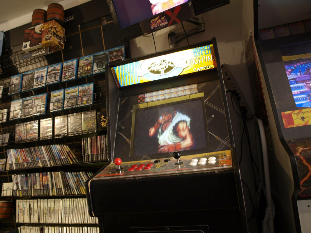Retro game shop in Manhattan, New York, New York, 18 August 2015