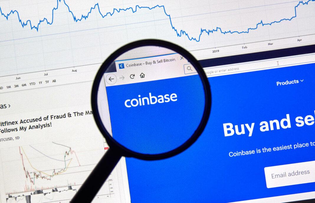 Coinbase on web browser