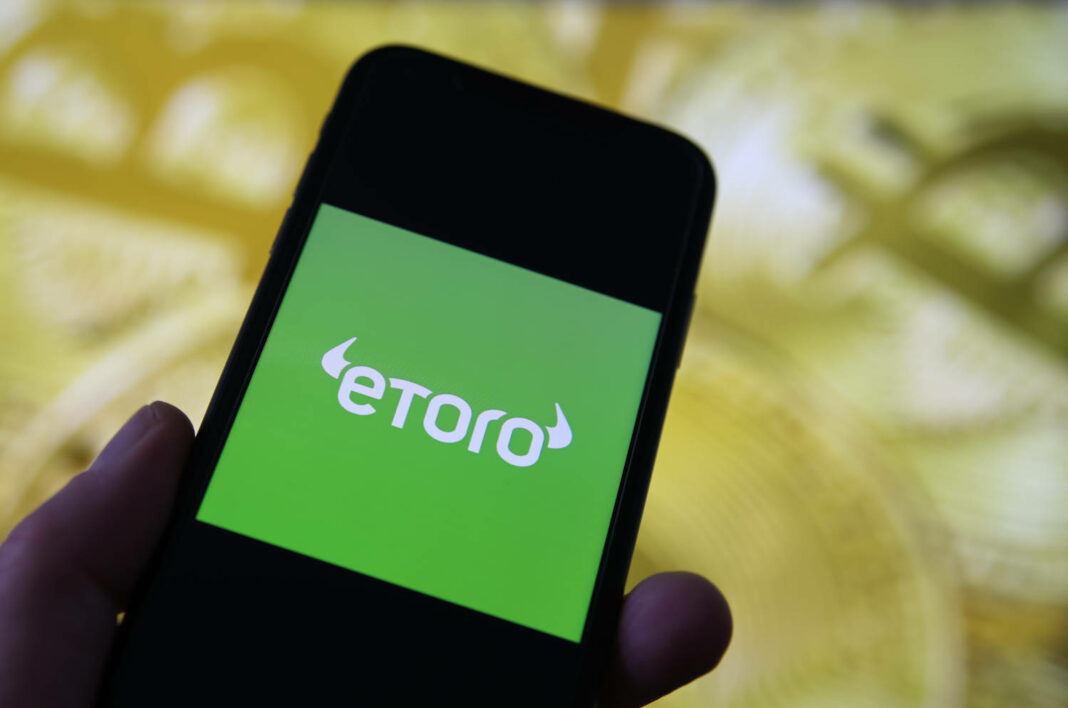 eToro app on mobile phone
