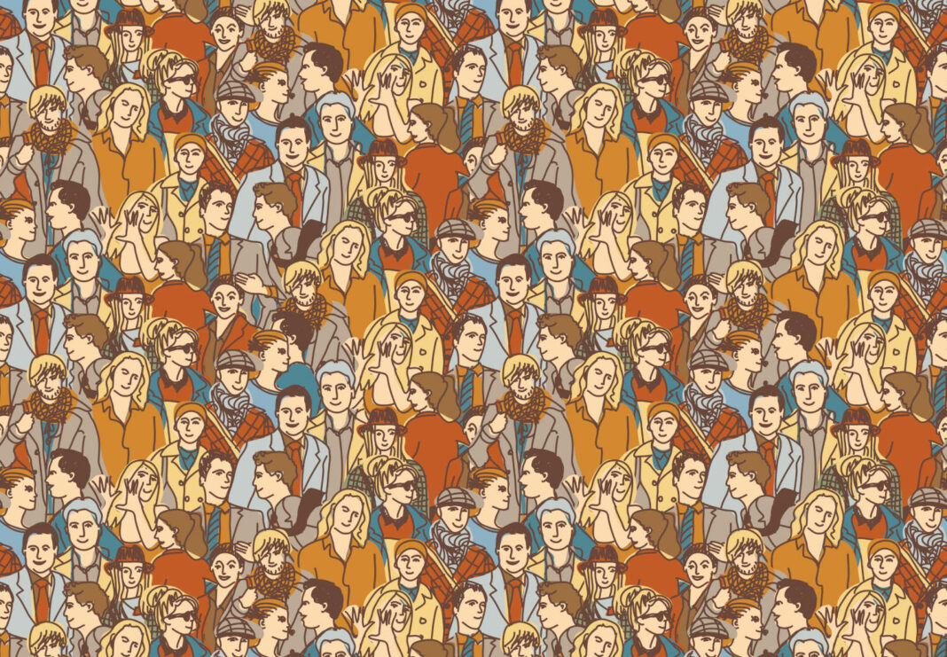 Crowd of people concept