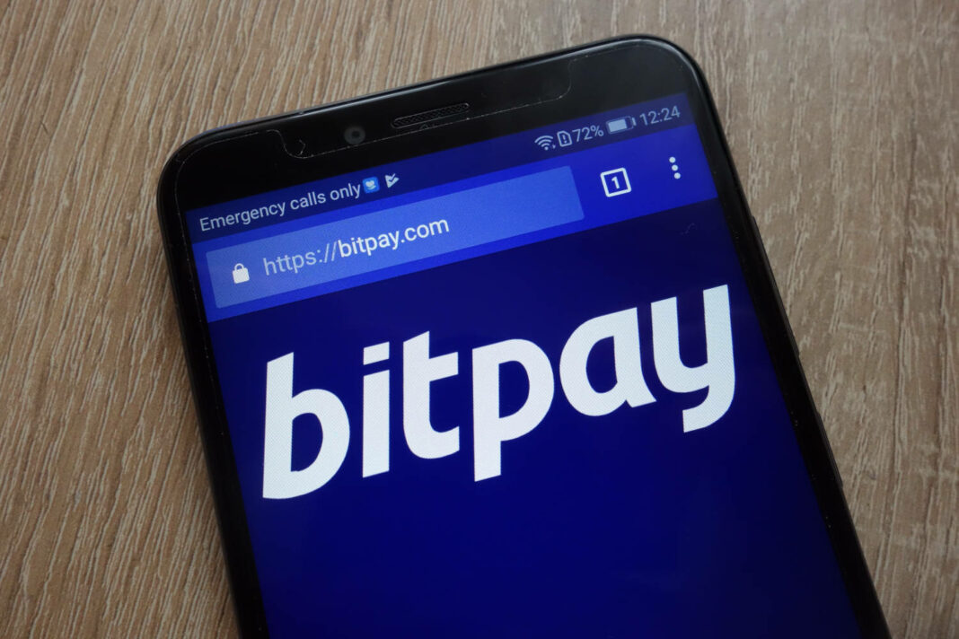 BitPay app on mobile phone