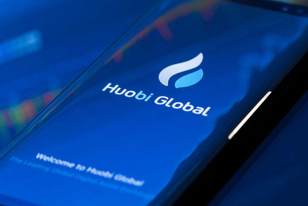 Huobi Global app on mobile phone