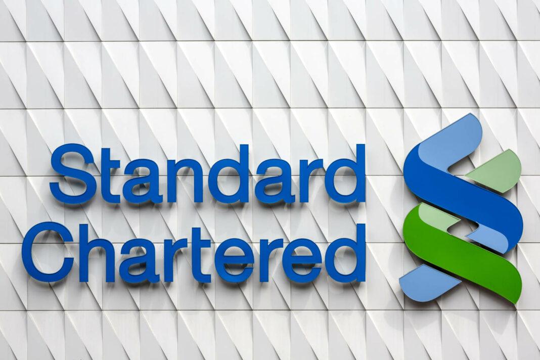 Standard Chartered logo on building