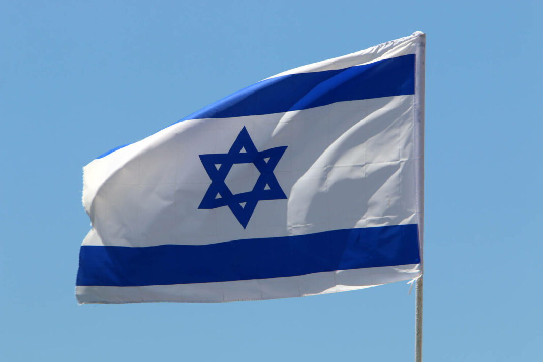 The national flag of Israel