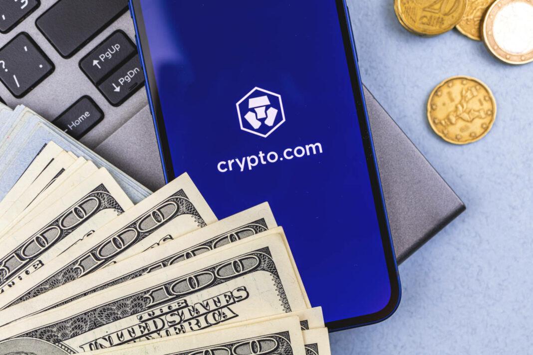 Crypto.com app on mobile phone