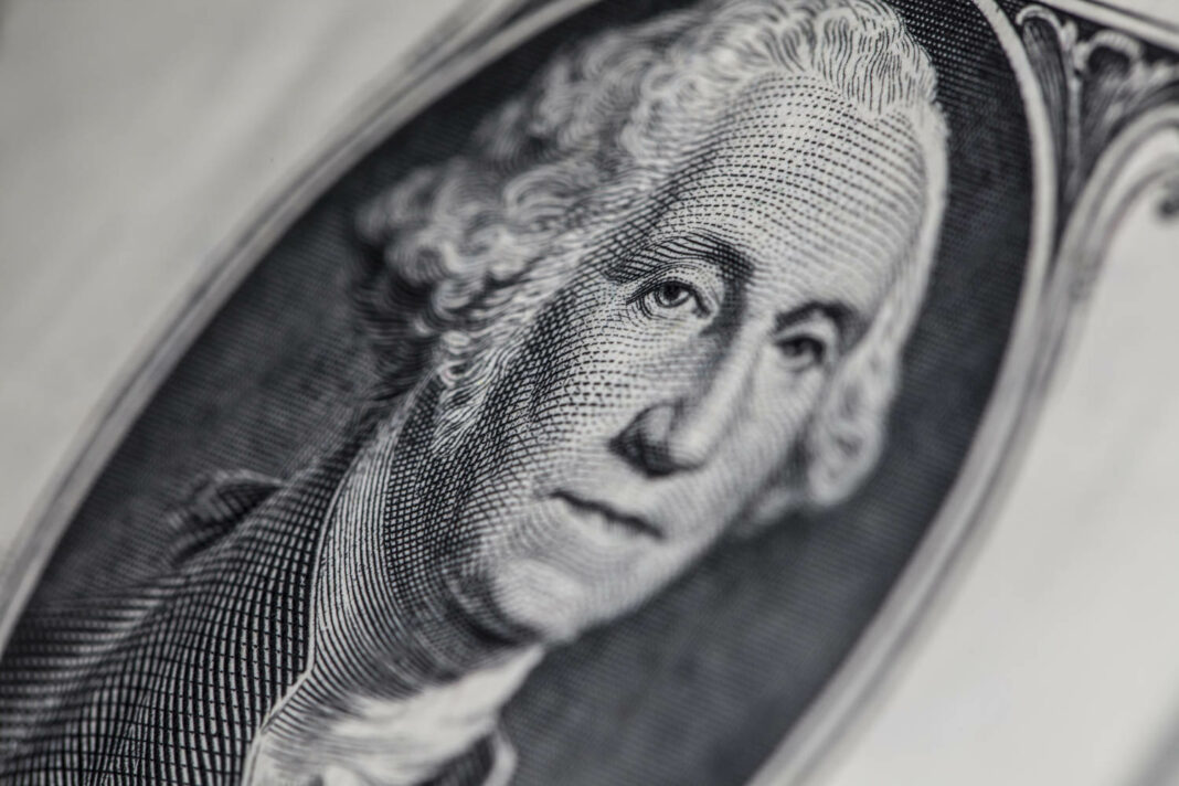 George Washington on US dollar bill