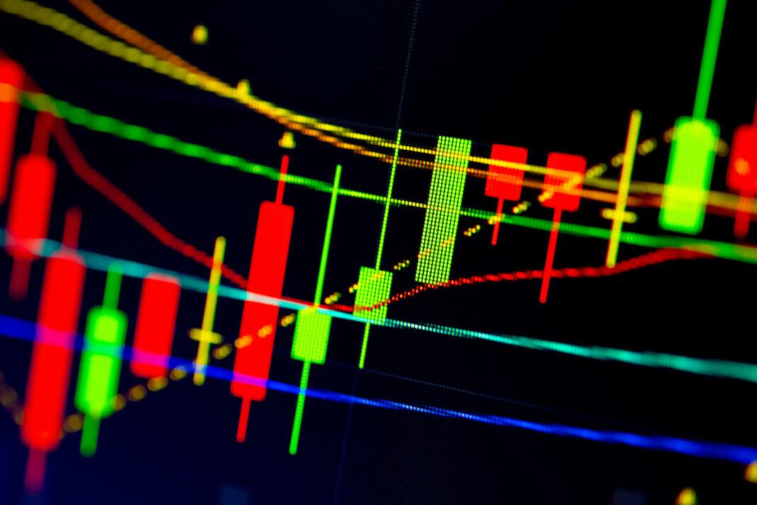 Stock market data on digital LED display