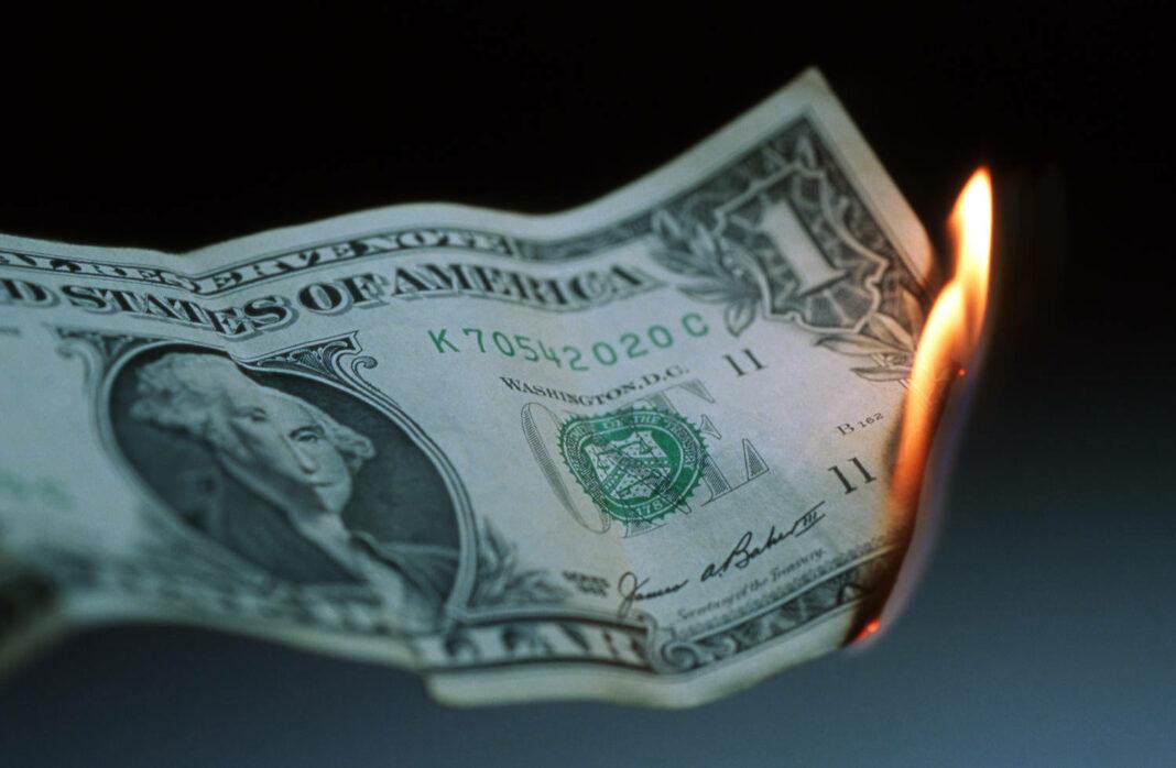 Burning Dollar Bill