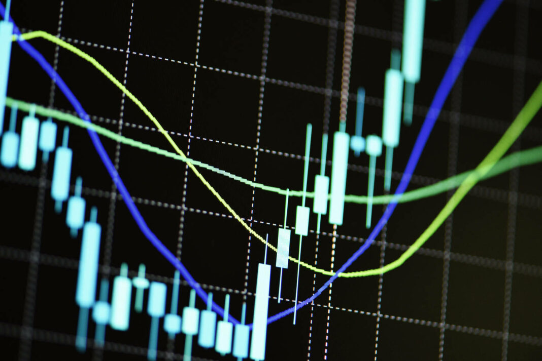 Stock graph charts on the stock market