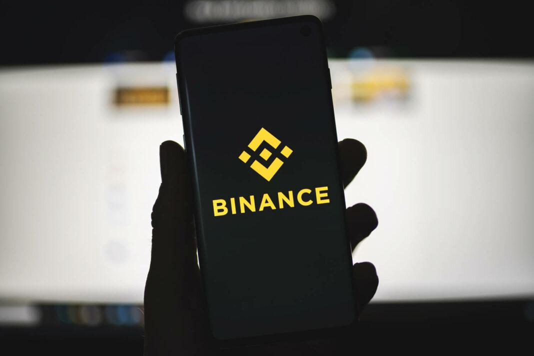Smartphone with Binance logo