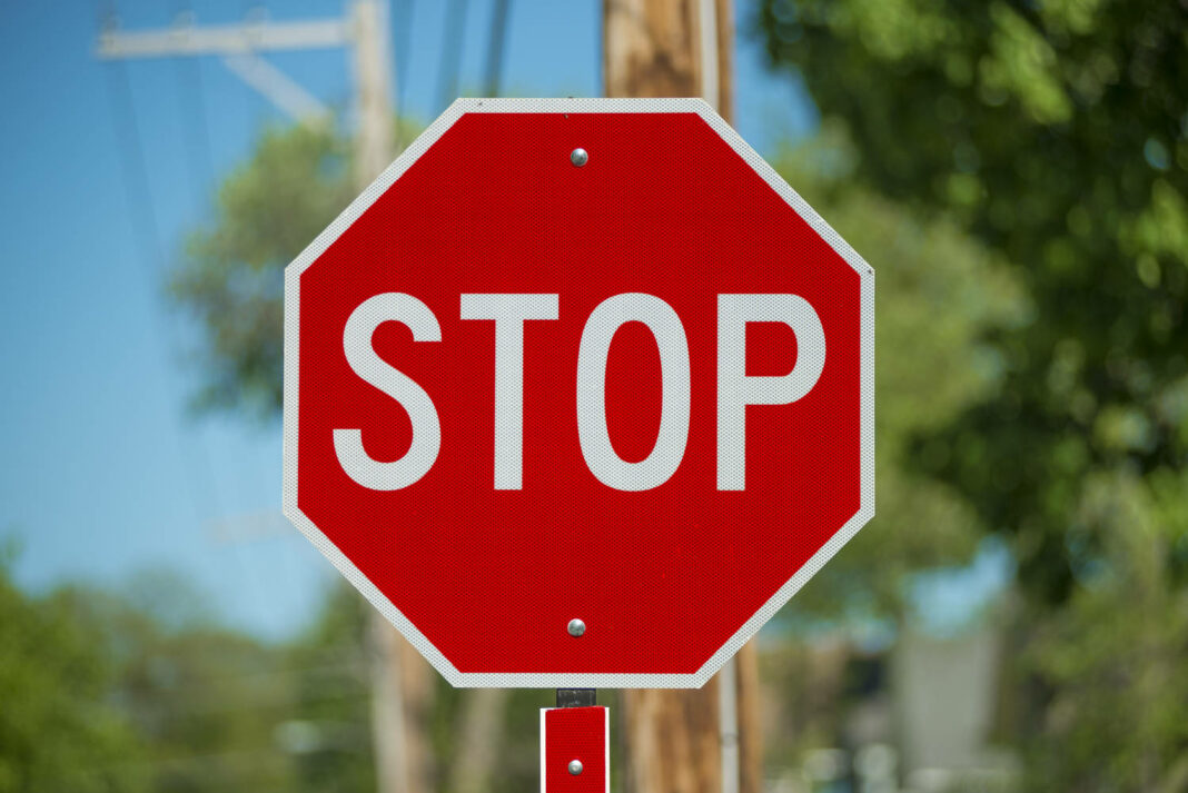 A stop sign