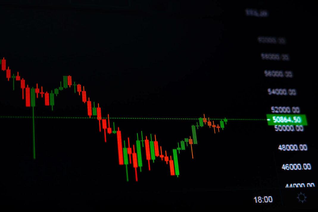 Stock exchange bar chart