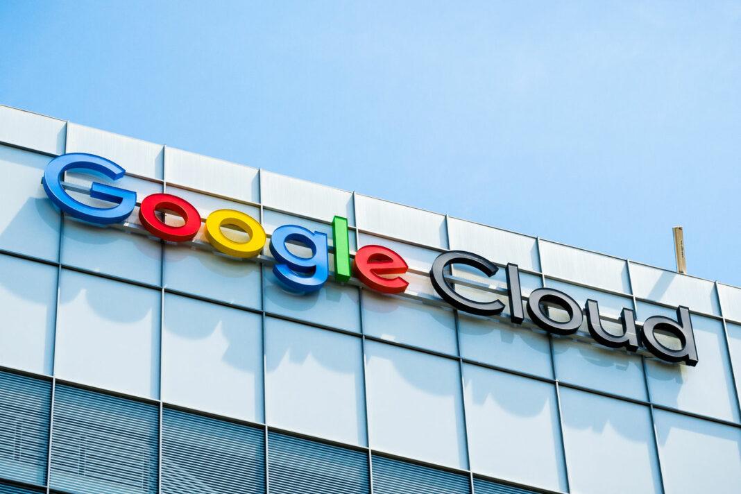 Google Cloud Sign on building