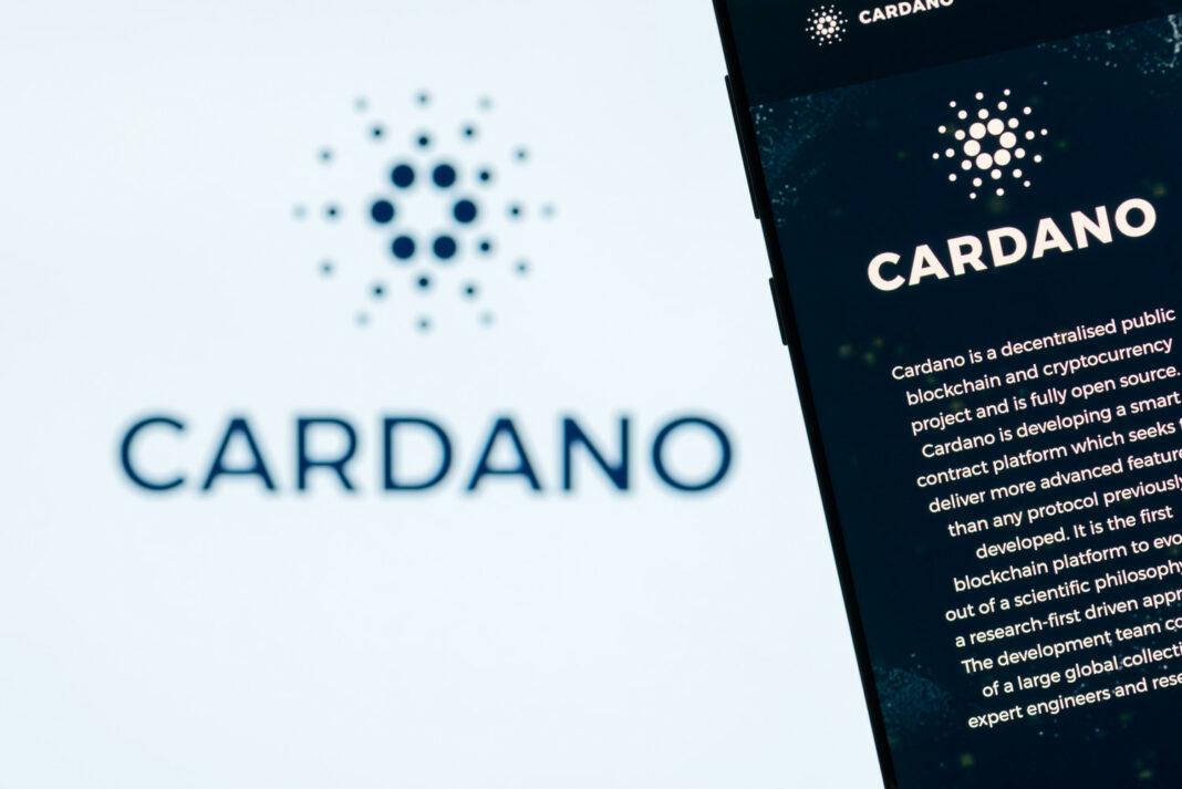 Cardano website displayed on the smartphone