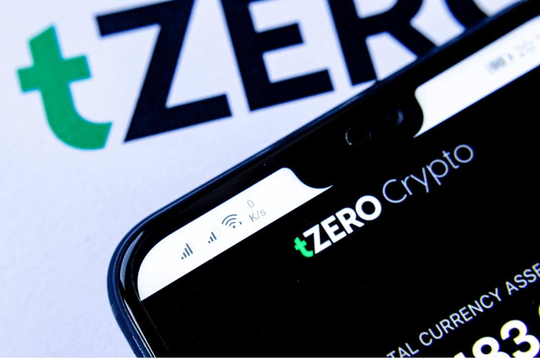 tZERO website on smartphone