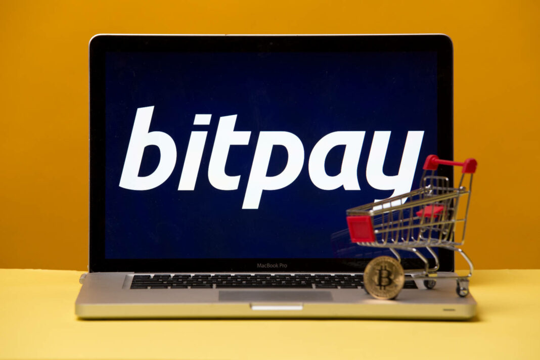 Bitpay on the laptop display