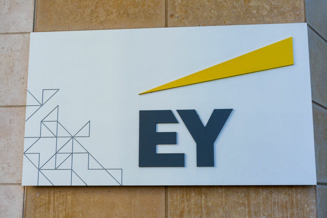 EY logo at the Ernst & Young
