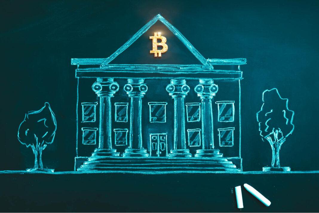 Bitcoin banking symbol